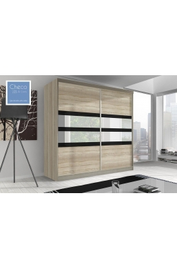 203cm SLIDING DOOR WARDROBE 'MULTI' FRONT 09 SONOMA OAK