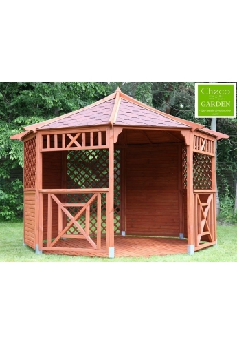 Gerda Wooden Gazebo Octagonal Diametr 12ft / 3.5m
