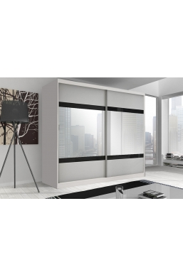 233cm SLIDING DOOR WARDROBE 'MULTI' FRONT F02 WHITE