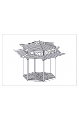 Japanese Pagoda Hexagonal Diametr 8ft2 / 2.5m