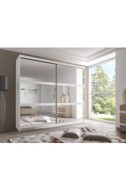 233cm SLIDING DOOR WARDROBE 'MULTI' FRONT F10 WHITE