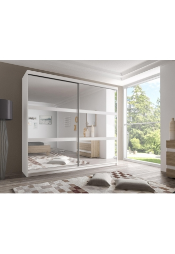 233cm SLIDING DOOR WARDROBE 'MULTI' FRONT F01 WHITE