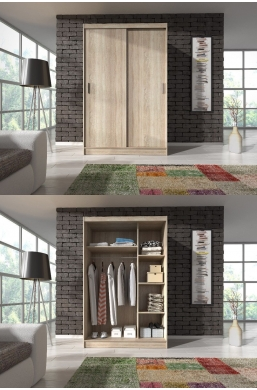 130cm SLIDING DOOR WARDROBE SONOMA OAK